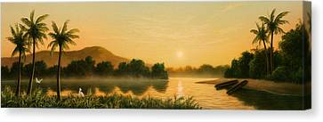 Seminole Sunset Canvas Print by Jerry LoFaro