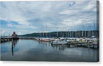 Seneca Lake Harbor - Watkins Glen - Wide Angle Canvas Print by Photographic Arts And Design Studio