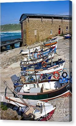 Sennen Cove Fishing Fleet Canvas Print by Terri Waters