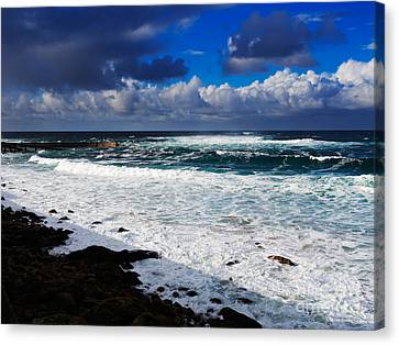 Sennen Cove In Cornwall Canvas Print by Louise Heusinkveld