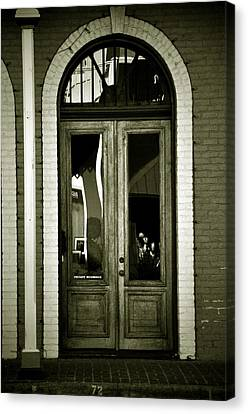 Sepia Door Canvas Print by Cherie Haines