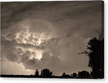 Sepia Light Show Canvas Print by James BO  Insogna
