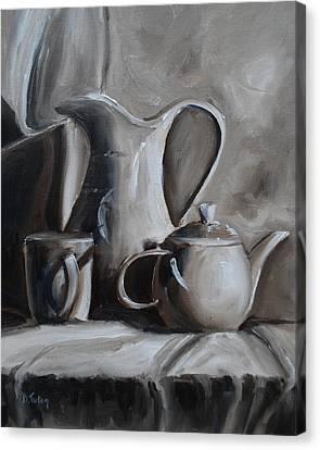 Sepia Still Life Canvas Print by Donna Tuten