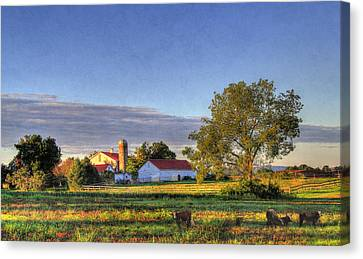 September Morning Canvas Print by Sharon Batdorf