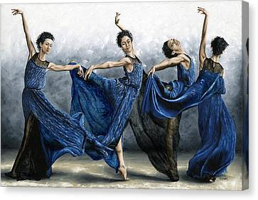 Sequential Dancer Canvas Print by Richard Young