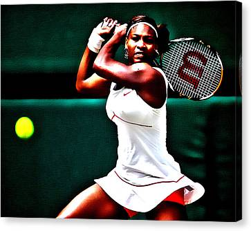 Serena Williams 3a Canvas Print by Brian Reaves