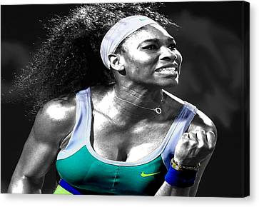 Serena Williams Ace Canvas Print by Brian Reaves