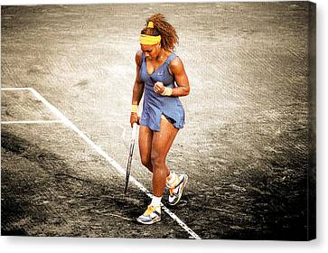 Serena Williams Count It Canvas Print by Brian Reaves