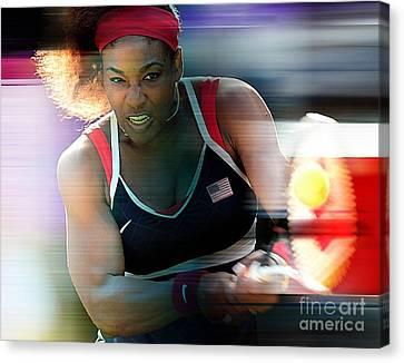 Serena Williams Canvas Print by Marvin Blaine
