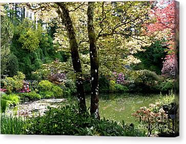 Serene Garden Retreat Canvas Print by Carol Groenen