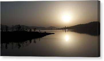 Serene Sunrise Canvas Print by Vinod Chauhan
