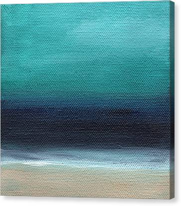 Serenity- Abstract Landscape Canvas Print by Linda Woods
