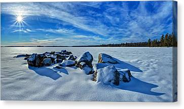 Serenity In Snow Canvas Print by ABeautifulSky Photography
