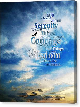 Serenity Prayer 3 - By Sharon Cummings Canvas Print by Sharon Cummings