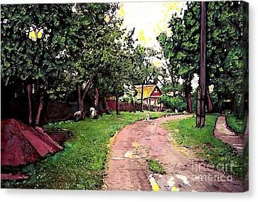 Sergeiev Posad Canvas Print by Sarah Loft