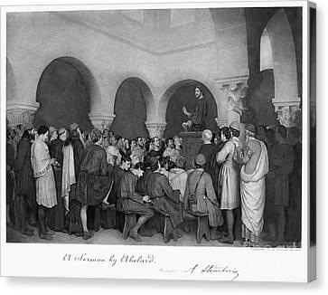 Sermon By Abelard Canvas Print by Granger