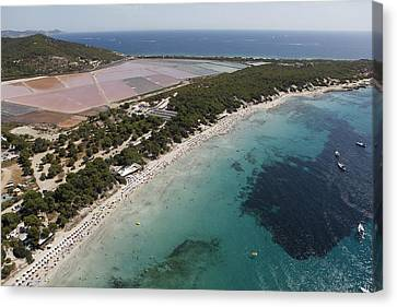 Ses Salines Beach And Salterns, Ibiza Canvas Print by Xavier Durán