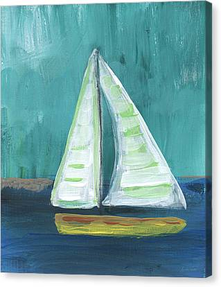 Set Free- Sailboat Painting Canvas Print by Linda Woods