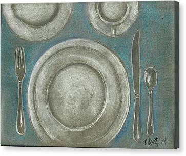 Set The Table Canvas Print by P J Lewis