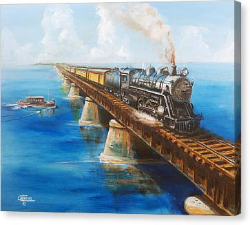 Seven Mile Bridge Canvas Print by Christopher Jenkins