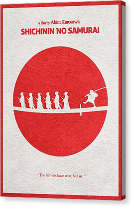 Seven Samurai Canvas Print by Ayse Deniz