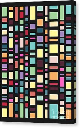 Seventeen Pattern Dark Canvas Print by Freshinkstain