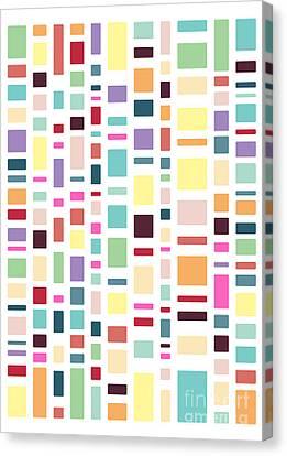 Seventeen Pattern Light Canvas Print by Freshinkstain
