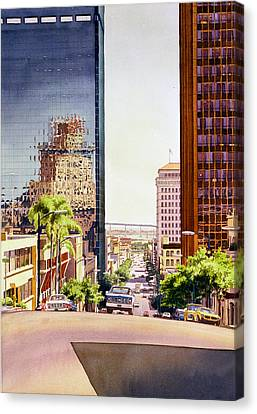 Seventh Avenue In San Diego Canvas Print by Mary Helmreich