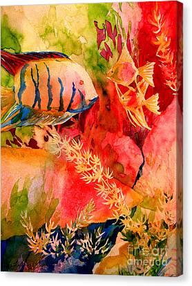 Severums And Angels 6-4-06 Julianne Felton Canvas Print by Julianne Felton