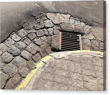 Sewer And Corner Canvas Print by Ron Torborg