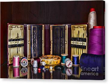 Sewing Kit Canvas Print by Paul Ward