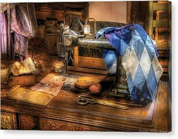 Sewing Machine  - Sewing Machine IIi Canvas Print by Mike Savad