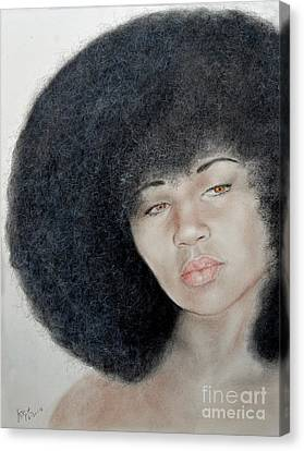 Sexy Aevin Dugas Holder Of The Guinness Book Of World Records For The Largest Afro Canvas Print by Jim Fitzpatrick