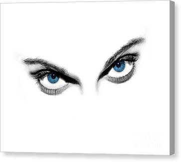 Sexy Blue Eyes  Canvas Print by Jt PhotoDesign