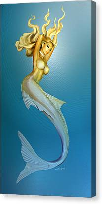 Sexy Mermaid By Spano Canvas Print by Michael Spano