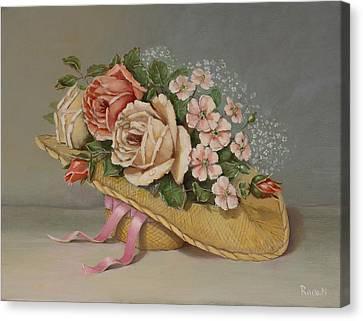 Shabby Chic Roses Canvas Print by Radoslav Nedelchev
