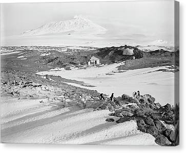 Shackleton's Hut In The Antarctic Canvas Print by Scott Polar Research Institute