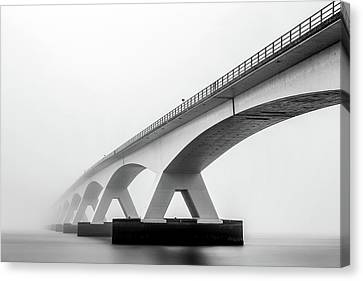 Shades Of Grey Canvas Print by Sus Bogaerts
