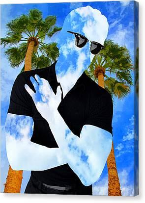 Shadow Man Palm Springs Canvas Print by William Dey