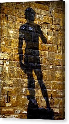 Shadow Of Michaelangelo's David Canvas Print by Jenny Setchell