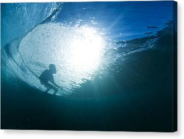 Shadow Surfer Canvas Print by Sean Davey