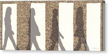 Shadows Of Abbey Road Canvas Print by Cristophers Dream Artistry