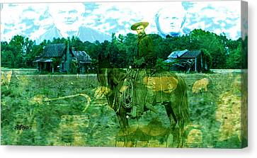 Shadows On The Land Canvas Print by Seth Weaver