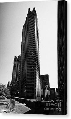 Shakespeare Tower In The Barbican Residential Estate London England Uk Canvas Print by Joe Fox