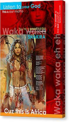 Shakira Art Poster Canvas Print by Corporate Art Task Force
