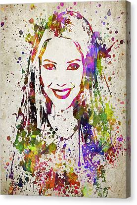 Shakira In Color Canvas Print by Aged Pixel