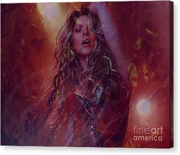 Shakira Canvas Print by Jessie Art