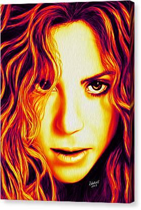 Shakira Canvas Print by Rebelwolf