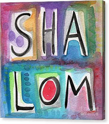 Shalom - Square Canvas Print by Linda Woods
