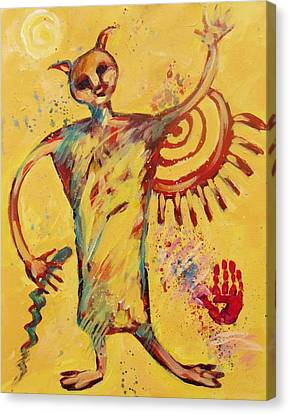 Shaman Greetings Canvas Print by Carol Suzanne Niebuhr
